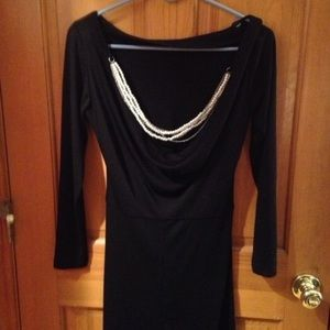 Black Fredrick's dress with pearl back